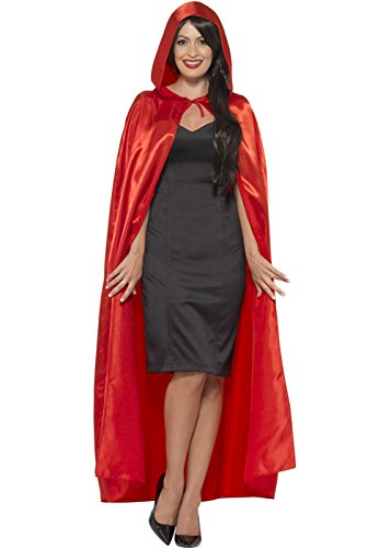 Erwachsenen Gothic Long Red Satin Cape