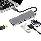 Hub C USB Concentrateur USB Type C Avec Adaptateur Multi Ports 5 En 1 Sortie HDMI 4K Lecteur De Carte SD + MicroSD Et USB 3.0 Portable Pour MacBook Pro 2015/2016 2017/2018 Nouveau MacBook Chromebook