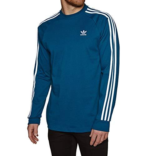 Adidas Long Sleeve Logo T-shirt (adidas Herren 3-Stripes LS T Long Sleeved T-Shirt, Legend Marine, M)