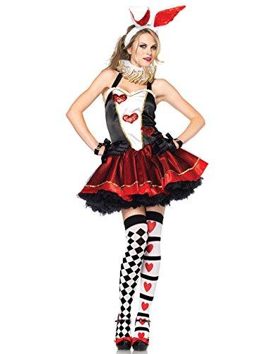 Hase Alice Damen Kostüm schwarz rot weiss XS/S