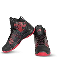 79f261c0a162 Vector X BB-19 Basketball Shoes for Men s (Black-Red)