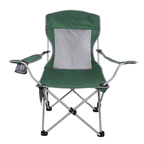 HM&DX Portable Chaises de camping pliantes extérieures,Compact Chaise longue pliante inclinables Réglable Chaise de plage pliante Avec Porte-gobelet Fauteuil Chaises pliantes Pour Jardin camping pêche randonnée picnic-vert