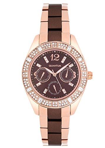 QUANTUM Damen-Armbanduhr Impulse Chronograph Quarz Edelstahl beschichtet IML352.03