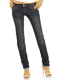 bestyledberlin Damen Jeans, Basic Straight Leg Hüftjeans, Regular Fit  Jeanshosen j52i-1 4fb0d30dc0