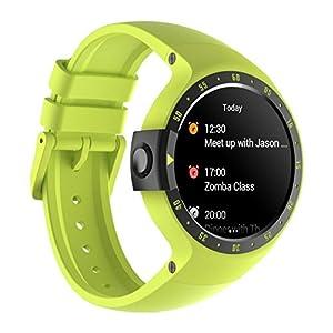 Ticwatch Reloj Inteligente S Aurora, Pantalla OLED DE 1,4 Pulgadas, Compatible con iOS y Android como Xiaomi Huawei LG Motorola, Android Wear 2.0, Soporte español