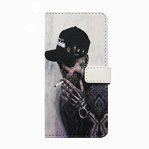 iPhone 6S Plus Hülle Glitzer,iPhone 6S Plus Hülle Leder,iPhone 6 Plus Hülle,Leder Handy Tasche Wallet Case Flip Cover Etui für iPhone 6 6S Plus,EMAXELERS Cute Blumen Campanula Muster Design Schutzhüll T Skull Series 1