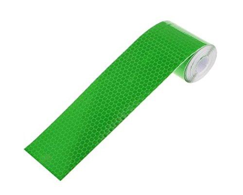 Yolandabecool Streifen Klebeband Reflektierende Aufkleber Selbstklebefolie Nacht Sicherheit Reflektor Warnbänder Film Requisiten (Grün) - Nacht Sicherheit