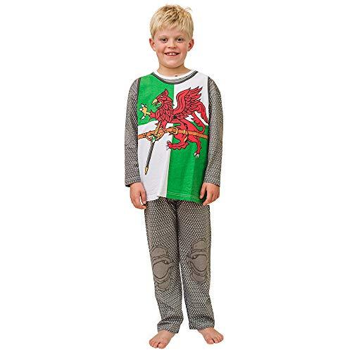 Kostüm & Schlafanzug * RITTER KNIGHT OF WALES * für Kinder mit 5-6 Jahren aus Baumwolle // Größe 109 - 116 // Pyjama Fasching Verkleidung Verkleiden Karneval ()