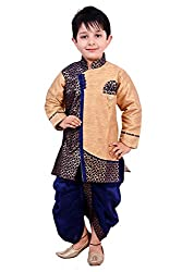 Arshia Fashions Boys Dhoti Kurta Set Ethnic Wear (BY00092_1_Blue_12 - 18 Months)