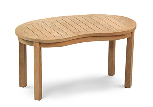 Jati Teak Banana Oval kidney shaped Wood Coffee Table ...