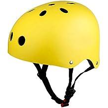 Infantiles Deportivas Patinaje Para Niños Casco Deportivos Bicicleta, Monopatín,Patines BMX (Amarillo A, M)