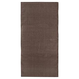 andiamo Handwebteppich Milo, Läufer, 100% Baumwolle, pflegeleicht & waschbar, einfarbig, Farbe:Taupe, Größe:60 x 160 cm