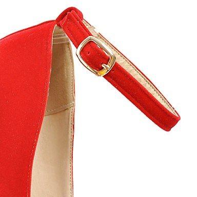 WSX&PLM Da donna-Tacchi-Matrimonio Formale Serata e festa-Cinturino-A stiletto-PU (Poliuretano)-Nero Giallo Rosa Rosso Bianco Tessuto almond pink
