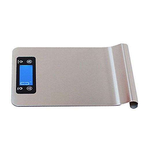 Haushalt Hängenden Edelstahl Küchenwaage, Intelligente Elektronische Waage, 25Mm Ultra-Dünnen Design, 2 Lithium-Batterie Netzteil, Größe: 24 * 16.8CM, (Ohne Batterie) - Ultra-dünnen Design