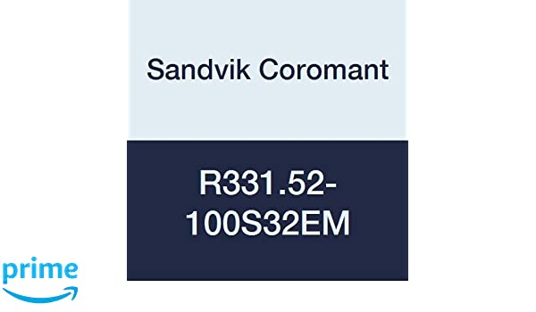 Sandvik Coromant R331.52-100S32EM CoroMill 331 Adjustable Half Side and Face Milling Cutter 32 mm Connection Diameter 100 mm Cutting Diameter