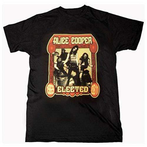 ALICE COOPER Herren Elected Band T-Shirt-Adult, Schwarz (Black), M -