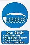 Schwimmer Sicher Tauchen Pool ACHTUNG Schwimmen lernen Sicherheit Training Schild klein