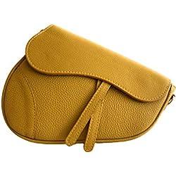 MASSIMA BARONI Bolsos Mujer/Modelo Panarea/Bolso Bandolera. Bolso de Hombro. Bolso de Piel. Ultima Tendencia (Mostaza)