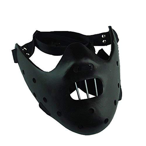 Kostüm Lecter Maske Hannibal - Schweigen der Lämmer Hannibal Cosplay Maske Schwarz Ver