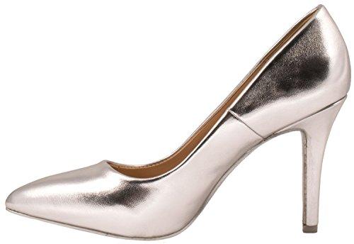 Elara punta tacco | Comodo di Stilettos | Elegante High Heels | chunkyrayan Argento