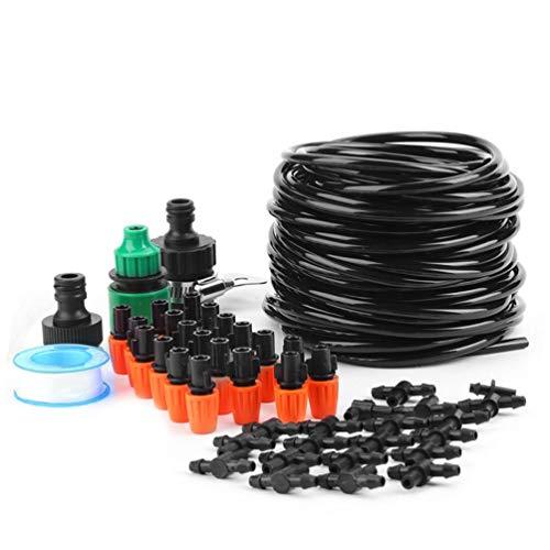 Lin-Tong Micro Flow Drip Bewässerungskit Micro Drip Kit Gewächshausbewässerungssystem Kühlung Nebel Sprinkleranlage 15M -
