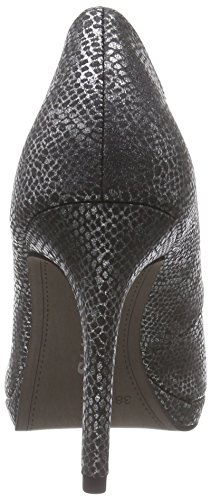 Tamaris  22448, Chaussures à talons - Avant du pieds couvert femmes Argent - Silber (Silver Struct. 943)