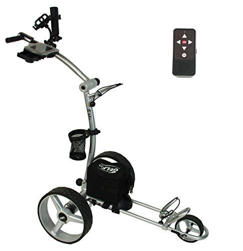 Elektro Golf Trolley PGE 3.0 12V/33Ah, Funkfernbedienung, USB, Vollausstattung, Silber