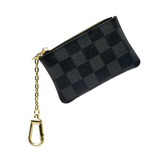 Frauen Kreditkarteninhaber RFID Blocking Wallet Leder Multi-Reißverschluss Geldbörse (Rosenrot) -