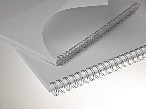 Renz - Reliure métallique Renz Ring Wire ® - 12.7 mm A4 34 Anneaux Pas 3:1 - Argent Mat