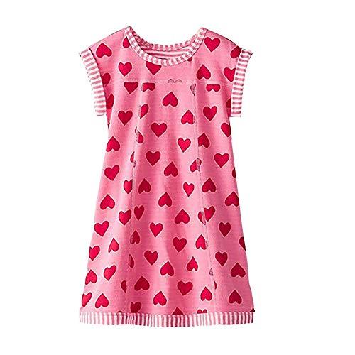 VIKITA Sommer Kleider Mädchen Ärmellos Kleid Baumwolle Bunt Print Stickerei Freizeitkleidung Gr.86-128 MS0320 4T