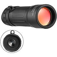 Ligero Pocket Focus Zoom Telescopio monocular 10x25 Senderismo Caza Camping Deportes al Aire Libre Práctico Viaje con Bolsa de Transporte (Color: Negro)