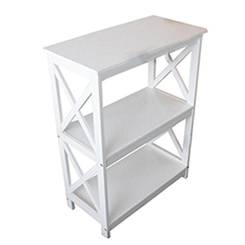 Anna Schelf anzeigen TH Modernes minimalistisches Bücherregal-kreative Regal-Wohnzimmer-Speicher-Regal-Boden-Art Rack-Schlafzimmer-Ausstellungsstand (Farbe : Weiß) -