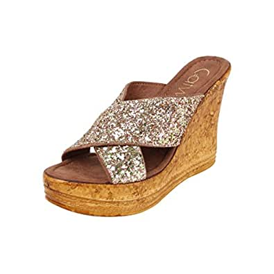 Catwalk Women's Gold Leather Fashion Sandals-4 UK/India (36 EU) (2355XX)