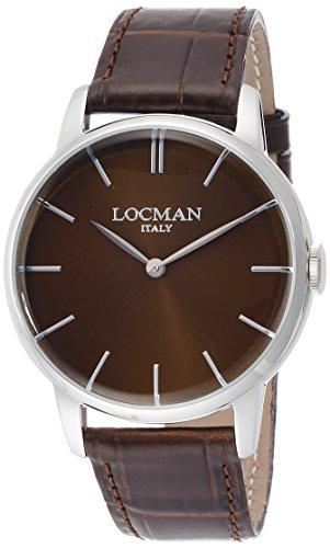 Locman 1960 / orologio uomo / quadrante marrone / cassa acciaio / cinturino...