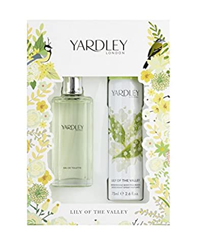 Yardley London Lily of the Valley Eau de Toilette and Body Spray Christmas Gift Set 50 ml - Pack of
