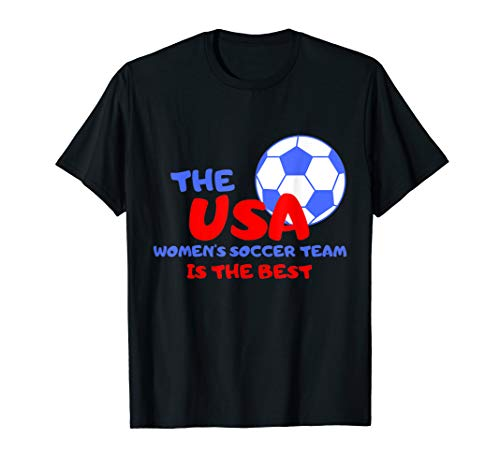 2041499d2ae USA Womens Soccer Kit France 2019 Girls Football Fans Jersey T-Shirt