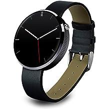 OH-BOX® Dm360 2016 venta caliente nuevo reloj inteligente SmartWatch para iOS Android movil con monitor de ritmo cardiaco reloj Bluetooth (Negro)