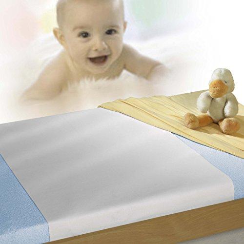 SETEX Wasserdichter Molton Matratzenschutz für Kinderbetten, 40 x 50 cm, Junior, Weiß, 14U2040050025002