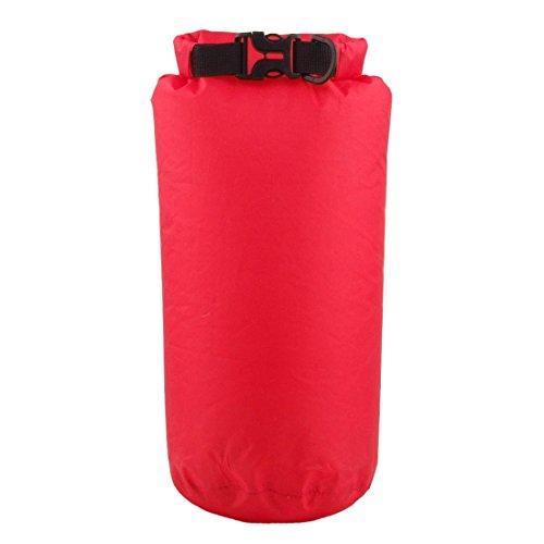 Wasserdicht Kompressions Packsack - LUCKSTONE 8L Wasserdicht Trocken Sack Lightweight Kompression Tasche fuer Bootfahren Kajak Rafting Kanu (Rot)