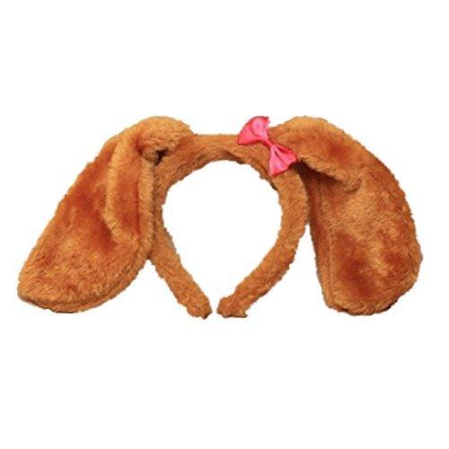 Haarreif mit braunen, weichen, pelzigen Teddybär-Ohren, Haarband, Kostüm