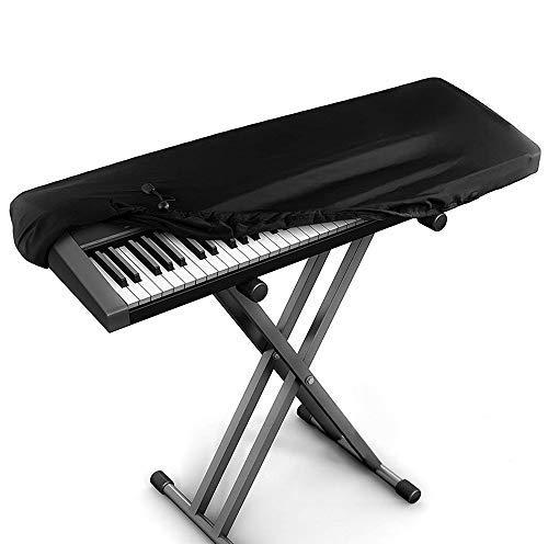 Kaxich Klavier Abdeckung, 88 Tastatur Elektronische Klavierabdeckung Dehnbare Klaviertastatur Staubdicht Abdeckung mit Kordelzug Piano Key Cover Schutz für Klaviertastatur (Yamaha Pianos Mit 88 Tasten)