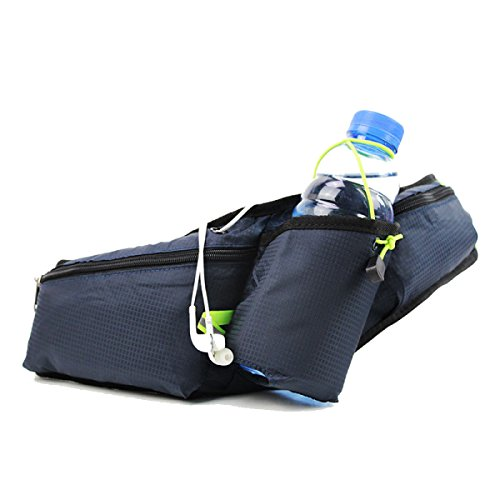 GXYLLDS Running Belt Sweat Pockets Cinturón Belt Sports Belt Waterproof Running Camping Teléfono Móvil Teclado Walkman Tarjeta,WaterBlue-OneSize