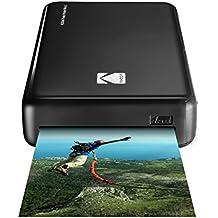 Kodak–Drucker Photo Mini 2HD Instant Wireless und Mobile mit Drucktechnologie patentierte 4Pass–Kompatibel mit iOS und Android–Schwarz