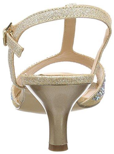 Pleaser Audrey 05, Sandali Donna Beige (Beige (Nude Shimmering Fabric))