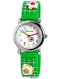 Excellanc 407060000032 - Reloj unisex, correa de plástico color verde