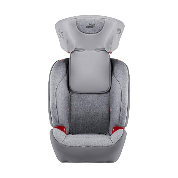 Britax Römer Evolva 1-2-3 Sl Sict Group 1-2-3 (9-36Kg) Car Seat  This EVOLVA 1-2-3 SL SICT will come in a Grey Marble design cover which is made from a more premium fabric with extra detailing Installation, ISOFIX and a 3-point seat belt, or 3-point seat belt only Enhanced Side Impact Protection (SICT) minimises the force of an impact in a side collision 4