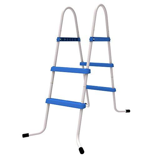 Jilong Poolleiter bis 84 cm Poolhöhe 2 Stufen Schwimmbad Treppe Beckenleiter Pooltreppe Leiter Einstieg für Aufstell-Schwimmbecken aller Art und Hersteller