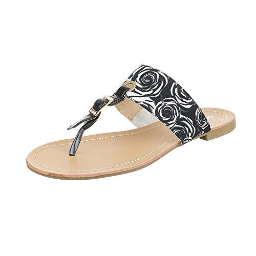 Ital-Design , Escarpins peep-toe femme noir/blanc