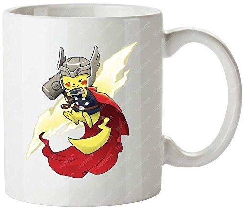 Thundermon Alison Acton Lightning Bolt Marvel Comics Nintendo Pikachu Pokemon Thor Travel Mug(Tazzine da caffè) Cool Mug(Tazzine da caffè)