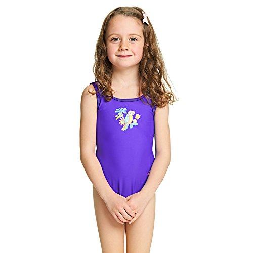 opback Badeanzug Mädchen–Lila 2 Jahre violett (Jungle Girl Costume)